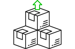 Multiple packages icon
